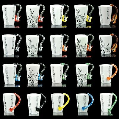 20 Choices Guitar Violin Clarinet Musical Instrument Music Coffee 1Cup Mug Art