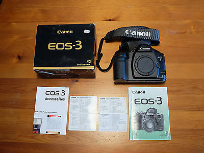 Canon EOS3 35mm Camera Body - Boxed with Instructions EOS 3