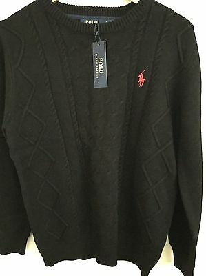 Polo Ralph Lauren - Sweater Black- Size Small NWT Jumper