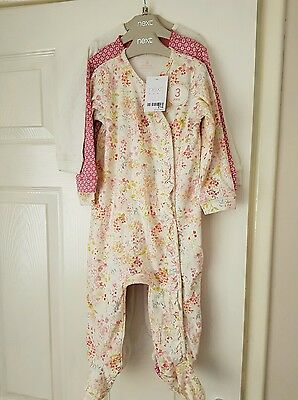 Next 3 pack baby girl sleepsuits size 9 - 12 months