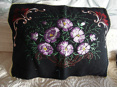 antique vintage hand embroidery cushion cover