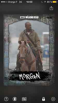 topps the walking dead Morgan versus Black full set with award