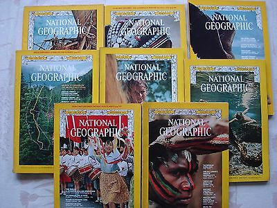 """MAGAZINES  """"NATIONAL GEOGRAPHIC""""    1971/ 1972 En Anglais"""
