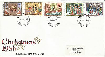 first  day cover  Christmas  1986