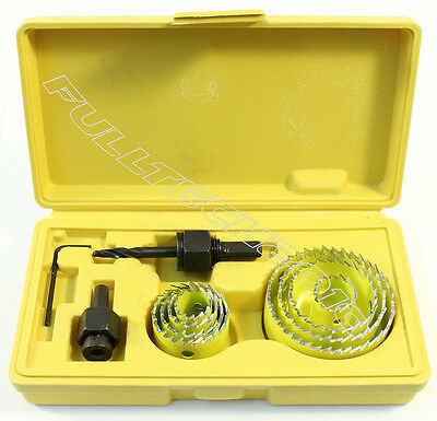11Pc HOLE SAW CUTTER SET Round/Circular Drill Cutting Case Kit Metal/Alloy/Wood
