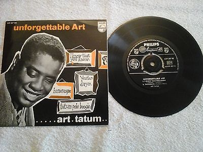 "ART TATUM - unforgettable art - 7"" 45 giri Jazz"