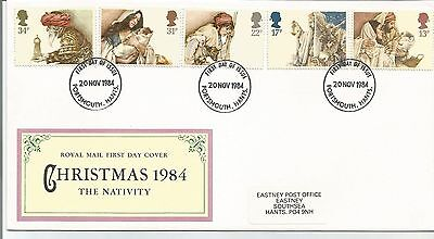 First Day Cover  Christmas  1984