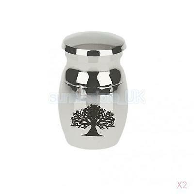 2pcs Tree of Life Keepsake Urn Small Cremation Urn for Ashes Funeral Urn