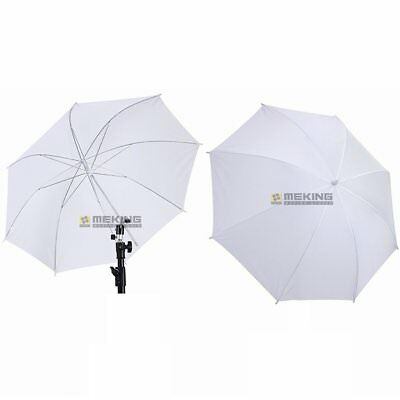 "2 X Translucent White Soft Umbrella 84cm 33"" Flash Lighting Shooting Diffuser"