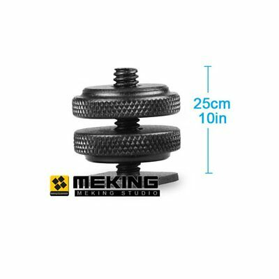 "Meking Pro Type 1/4"" Dual Nuts Tripod screw to Flash Camera Shoe Adapter"
