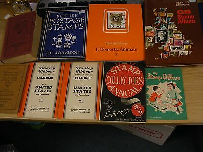 A job lot of STAMP COLLECTING books - Stanley Gibbons  etc vintage