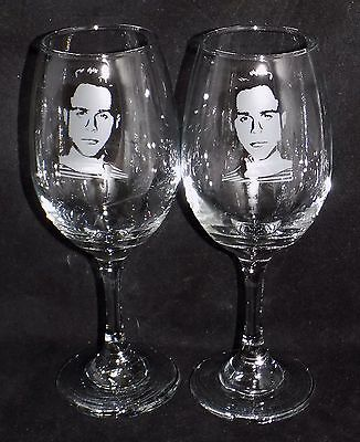 """New Etched """"Olly Murs"""" Large Wine Glass - Can Be Gift Boxed - Buy 1 or 2  (WM28)"""