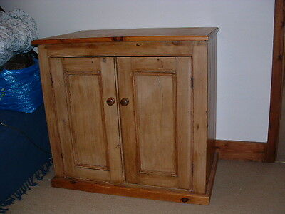 "Antique Pine Cupboard 41 3/4"" Wide, 26"" deep & 39 3/4"" high"