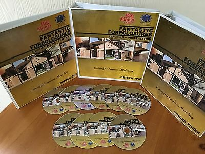 Fantastic Foreclosures Real Estate Home Study Course 2 MANUALS & 10 DVD'S! RARE!