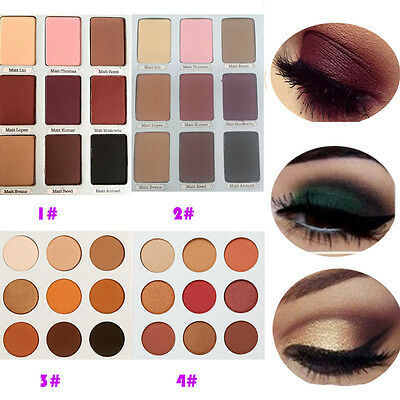 Womens 9 Colors Eye Shadow Makeup Shimmer Matte Eyeshadow Palette Set Cosmetic
