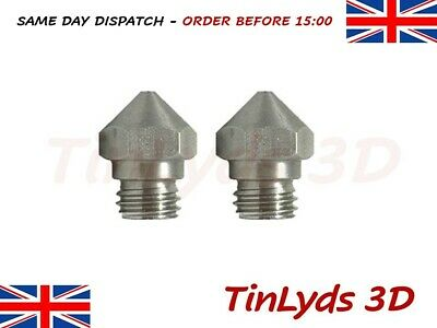 MK10 Stainless Steel 3D Printer Nozzle 0.4mm , M7 THREAD BIQU - 1.75mm