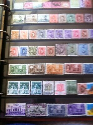 Egypt Page Of Stamps.