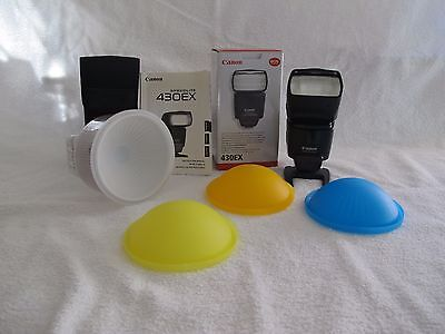 Canon Speedlite 430EX with Lambency Flash Diffuser, immaculate condition.