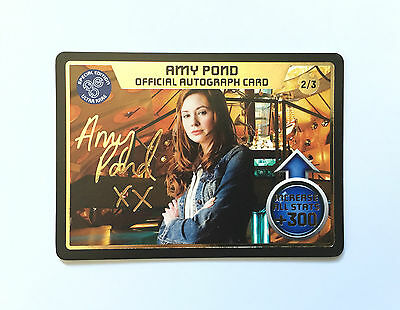Doctor Who Autograph Card Gold Embossed Amy Pond- Ultra Rare (2/3)