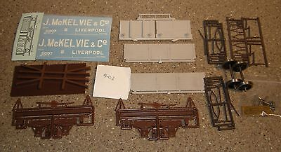 "Powsides O Gauge POW kit 7 Plank Open Wagon with transfers ""J McKelvie & Co"""