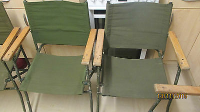 1 x Folding MOD Land Rover Canvas Chairs Military Army BBQ