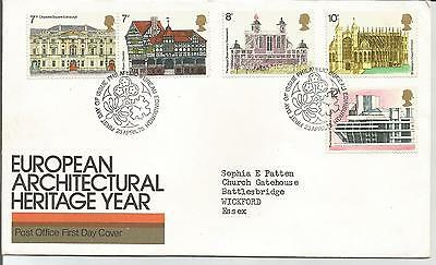 First  Day Cover European   Architectural  Heritage  Year
