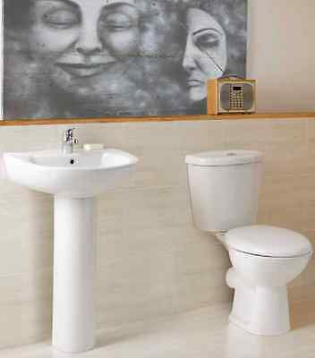 TOILET AND BASIN 4 PIECE SET including soft close seat
