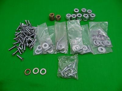 large lot of rixson 1 1/2 bolts and washers steel and brass 5.5 pounds