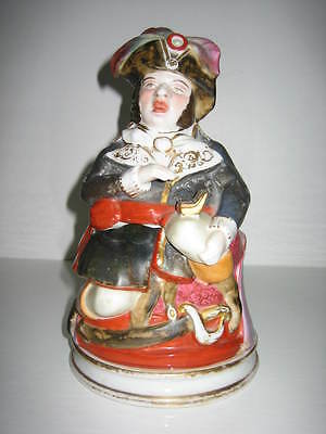 QUITE RARE POSSIBLY FRENCH 'PIRATE TAKING SNUFF' TOBACCO JAR - LATE 1870s?