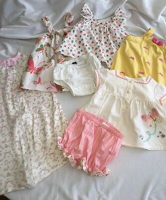 Lot Of 5 Baby Girl Outfits 3-6 Months, BabyGap, Gymboree,absorba,ChickPea