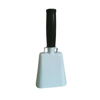 Cow Bell 10 Inch Cowbell White