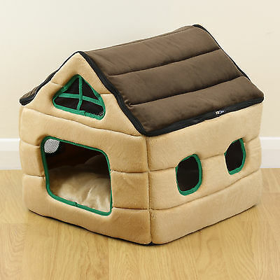 Soft Plush House Style Pet Bed Igloo Warm Cave/Mat/Snug Cat/Kitten Dog/Puppy