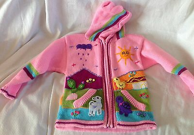 Hand knitted Alpaca Wool Children Sweaters with 3D designs