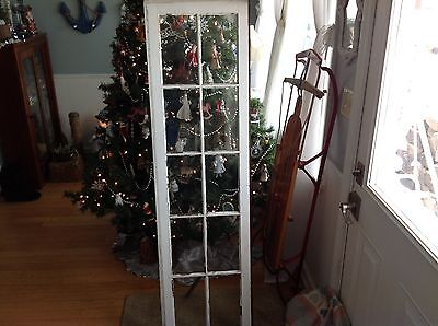 EARLY 1900's SHABBY CHIC 10 PANE WINDOW LITES FARMHOUSE PINTREST 17x62 INCHES