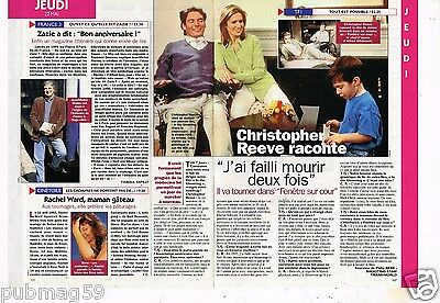 Coupure de presse  Clipping 1997 (1 page 1/3) Christopher Reeve