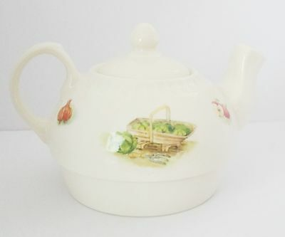 Aynsley Fine Bone China Edwardian Kitchen Garden Small Teapot. No Cup or Saucer.