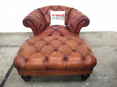 *LUXURIOUS Leather Tetrad Chesterfield Oscar Chair + Stool  L��������K*