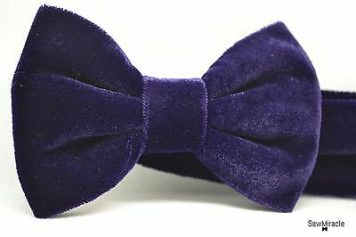 Velvet Bow Tie* Sizes 0-10*Dark Purple Velvet Handmade Bow tie