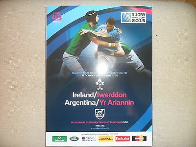 Rugby World Cup 2015 Programme - Ireland v Argentina - Brand New