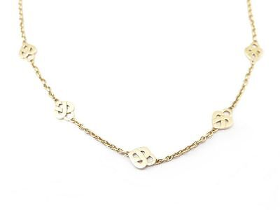 Collier Poiray 5 Coeurs Entrelaces 42 Cm En Or Jaune 18K Gold Neckeless 2500€