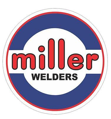 "Miller Electric Welders 8"" Blue, White & Black, Red Decals,1-Pair"