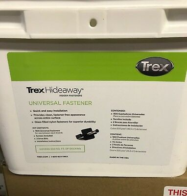 Trex Hideaway Universal Hidden Fasteners 500 Sq.Ft. Bucket FREE FED EX SHIPPING