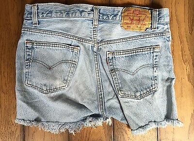 Vintage 1980's/1990''s LEVI 501 Button Fly Cut-Off short Shorts 30 Waist Made US