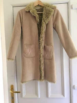 Rocha-Joh Rocha Girls Faux Suede Winter Coat Girls Winter Coat Age 9-10 yrs NEW