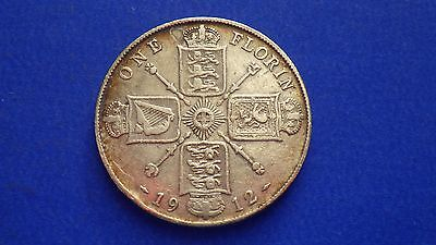 King George V 1912 florin in lower grade - jwhitt60 coin collection