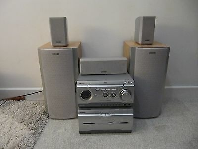 Sony Mhc-W280 2-Box Mini Hi-Fi Component System Dvd Home Cinema + Speakers