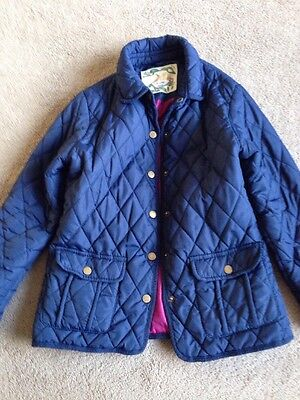 Primark Girls Navy Blue Quilted Coat Age 10-11