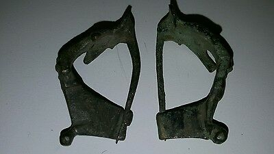 Roman horned brooches pair