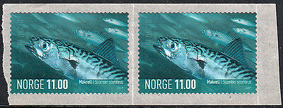 Norway 2007 11kr Mackerel Self Adhesives x 2