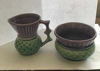 West Highland Pottery Small Jug And Small Dish